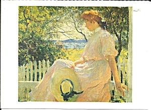 Postcard from Frank Benson Painting Elenor 1907  (Image1)