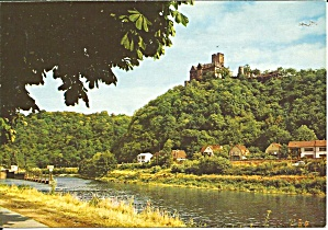 Castle Lahneck Germany On Rhine River Cs11371