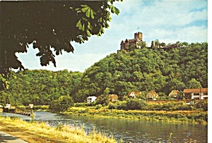 Castle Lahneck Germany Postcard Cs11378