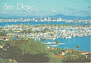 San Diego Bay CA  postcard cs11405 (Image1)