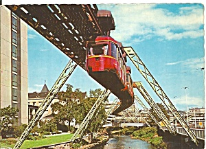 Wuppertal Germany Monorail Postcard Cs11442