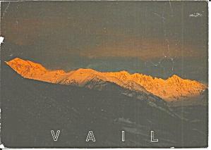 Sunset on Gorge Range CO postcard cs11445 (Image1)