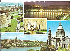 Budapest Hungary Five Views Postcard Cs11448