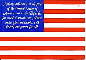 American Flag With Pledge Allegiance Cs11457