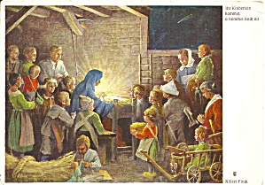 Manger Scene By Albert Finck Postcard Cs11480