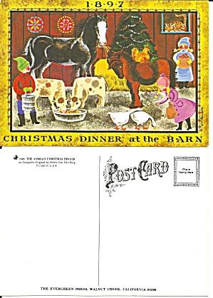 Animal Christmas Dinner from Painting Helen Van Den Berg cs11511 (Image1)