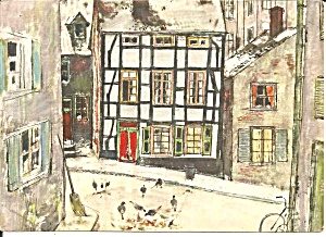 Essen Germany Street Scene Postcard Cs11521