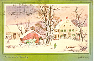 Winter In The Country Repro From Currier Ives Cs11538