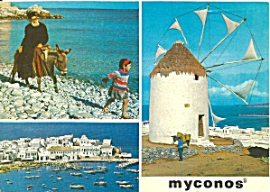 Mykonos Greece Three Views Cs11552