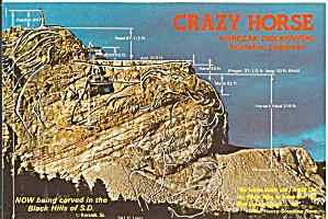 Crazy Horse Monument SD  First Day Postcard cs11574 (Image1)