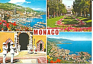 Monaco In Four Views Postcard Cs11607
