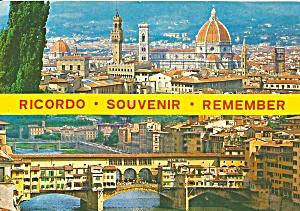 Ricordo Italy Air View Postcard cs11610 (Image1)