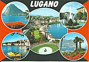 Lugano Switzerland Lake Mountain Views Cs11629