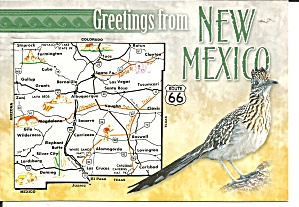 State Map Of New Mexico Post Card Cs11650