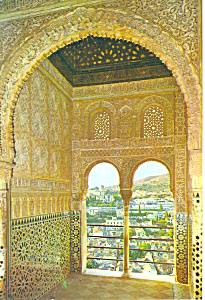 Hall of Ambassadors Granada Spain Postcard cs1167 (Image1)