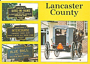 PA Towns Unique Names Amish Buggies Farmers cs11705 (Image1)