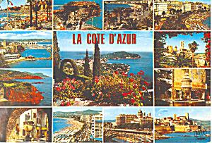 La Cote D Azur, France Postcard 1977 (Image1)