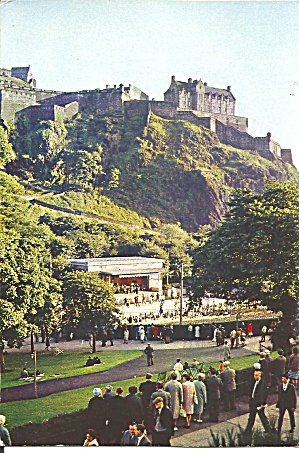 Edinburgh Castle Princes Street Gardens Scotland Cs11754