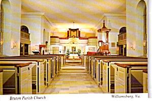 Williamsburg VA Interior Bruton Parish Church cs11983 (Image1)