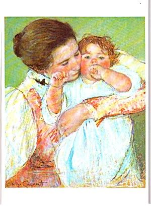 Casatt Mary From Painting Postcard  Mere et enfant cs11916 (Image1)
