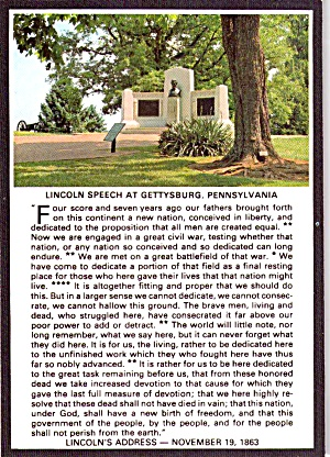 Lincoln Speech Memorial And Gettysburg Address Cs11932