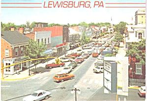 Lewisburg PA Main Street Vintage Cars cs11964 (Image1)