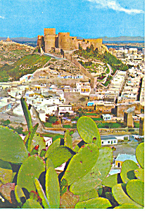 Ancient Fortress Almeria Spain Postcard cs1196 (Image1)