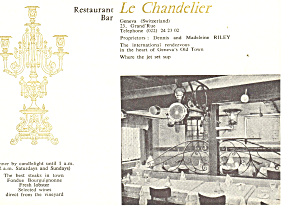 Geneva,Switzerland, Le Chandelier Bar Postcard cs1206 (Image1)