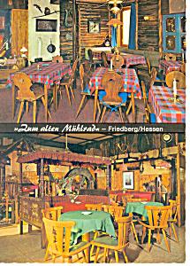 Friedberg Germany Zum Alten Muhlrad Postcard cs1208 (Image1)