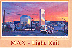 Light Rail,Portland,Oregon Postcard (Image1)
