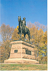 Valley Forge,PA Anthony Wayne Statue Postcard (Image1)