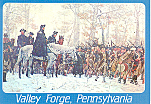 March to Valley Forge,PA  Postcard (Image1)