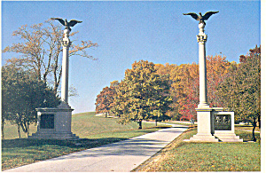 Valley Forge PA  PA State Marker Postcard cs1251 (Image1)