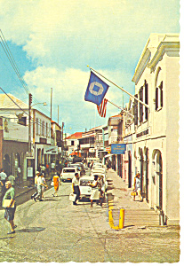 Main Street,St Thomas Virgin Islands Postcard (Image1)