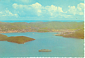 Harbor St Thomas Virgin Islands Postcard cs1260 (Image1)