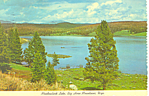 Meadowlark Lake,Big Horn Mountains,WY  Postcard (Image1)