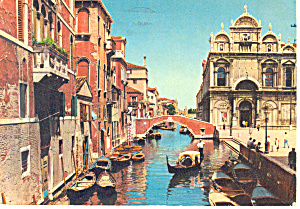 Venice Italy Beggars Bank  Postcard (Image1)