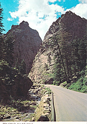 South Cheyenne Canan Colorado Pillars of Hercules Postcard CS12820 (Image1)