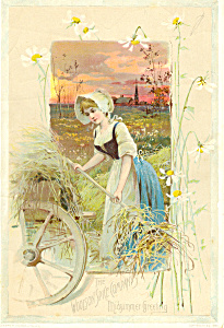 Woolson Spice Company Midsummer Greeting Trade Card
