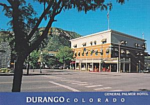 Durango Colorado General Palmer Hotel Postcard CS12963 (Image1)
