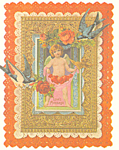 Loves Message Valentines Postcard (Image1)