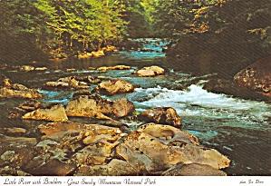 Great Smoky Mountains National Park Little River Boulders Postcard CS13107 (Image1)