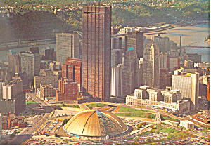 Skyline of Pittsburgh PA  Postcard cs1310 (Image1)