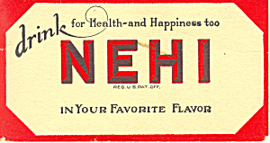 Nehi Beverages Advertising Blotter