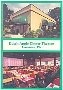 Dutch Apple Dinner Theatre Lancaster Pa Postcard Cs1336