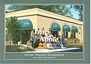 Dutch Apple Dinner Theatre Lancaster Pa Postcard Cs1337