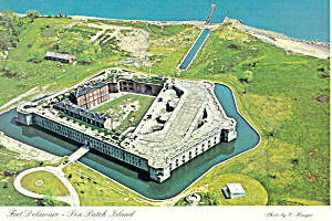 Fort Delaware Aerial View PA Postcard cs1343 (Image1)