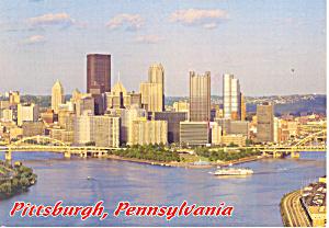 Pittsburgh PA Skyline  Postcard cs1345 1993 (Image1)
