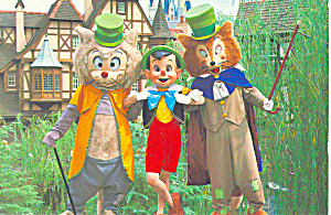 Pinocchio at Disney World, Florida Postcard (Image1)