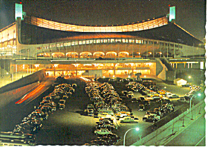 Yoyogi Stadium at Night, Tokyo Olmpics 1964 Postcard (Image1)